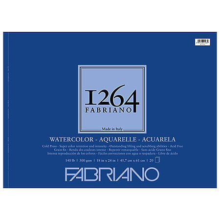 Fabriano Watercolor 1264 Pads - Odd Nodd Art Supply
