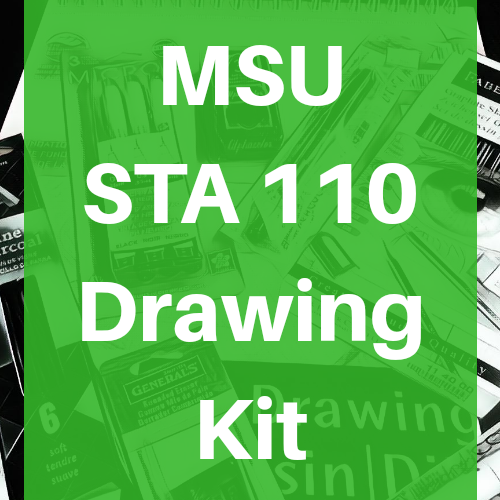 Michigan State University MSU Studio STA 110 Drawing Kit Course Pack- Odd Nodd Art Supply