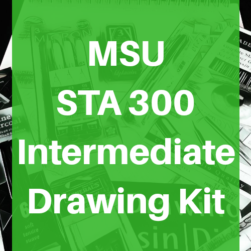 Michigan State University MSU STA 300 Intermediate Drawing Supply Art Kit - Odd Nodd Art Supply
