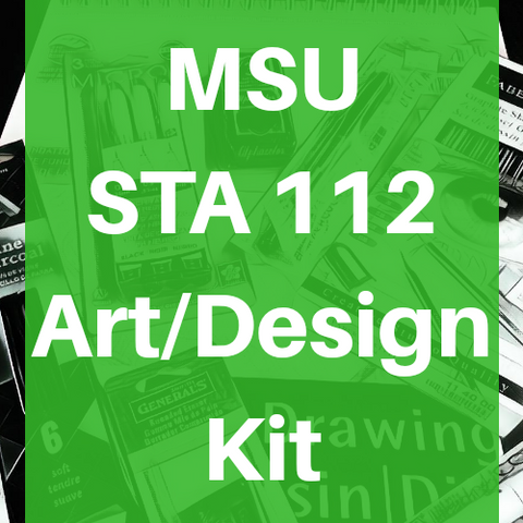 Michigan State University MSU STA 112 Art & Design Supply Kit Sullivan Gould Pack - Odd Nodd Art Supply