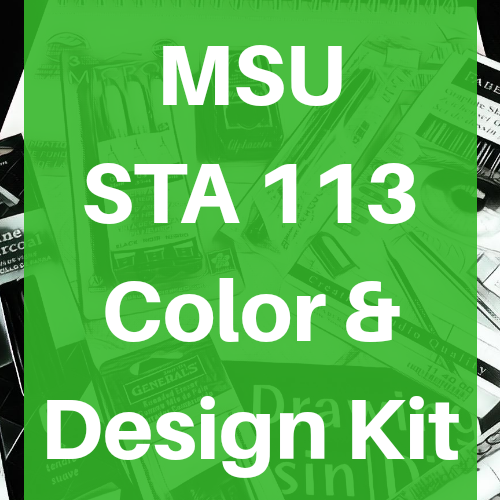 Chovanec Michigan State University MSU Studio Art STA 113 Color and Design Kit Course Pack - Odd Nodd Art Supply