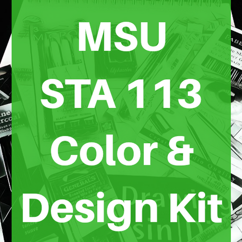 Michigan State University MSU Studio Art STA 113 Color and Design Kit Course Pack - Odd Nodd Art Supply