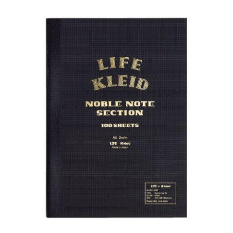"Life Noble Notebook A5 - 5.8"" x 8.25"" 2mm Grid"