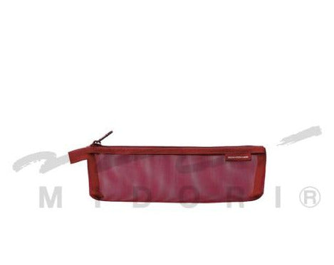 Midori Mesh Pen Pouches (Limited Edition) Wine Red Mini - Odd Nodd Art Store