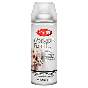 Krylon Workable Fixatif Spray Fixative Charcoal Pastels - Odd Nodd Art Supply