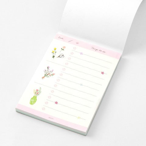 Midori To Do List Pad Flower - Odd Nodd Art Supply