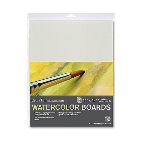 Cold-Press Watercolor Board 3-Packs