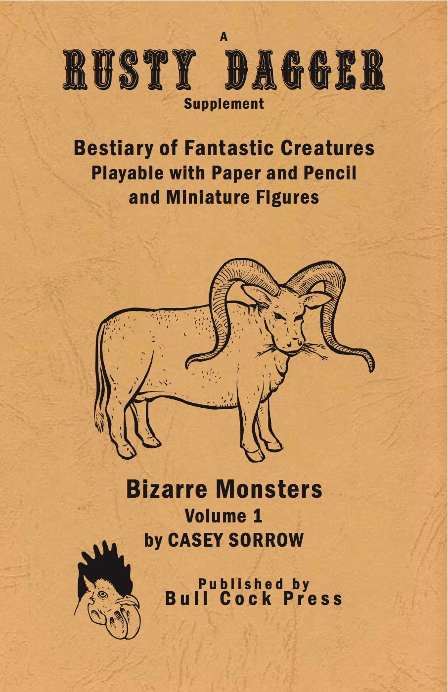 Bestiary of Fantastic Creatures Playable with Paper Pencil and Miniature Figures by Casey Sorrow - Odd Nodd Art Supply
