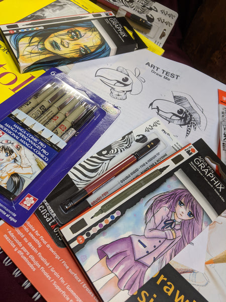 Manga and Cartooning Quarantine Kid Odd Nodd Art Supply