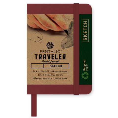 Pentalic Traveler Pocket Sketch Journal