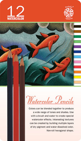 Pentalic Watercolor Pencil Tin 12 Color Set