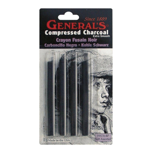 General Compressed Charcoal Sets