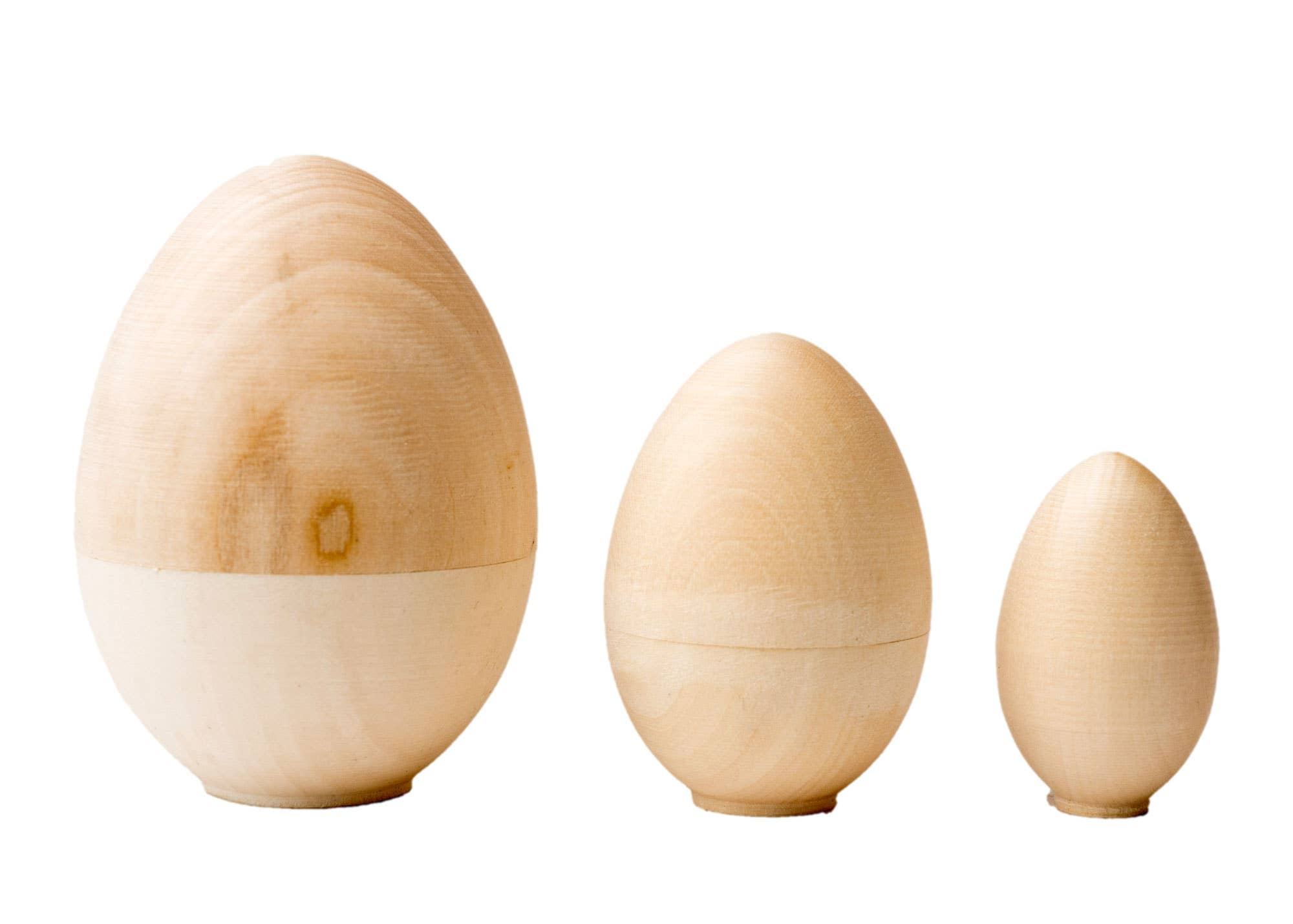 "Blank Nesting Egg 3pc./4"" - Odd Nodd Art Supply"