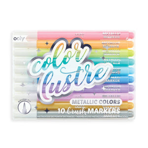 Color Lustre Metallic Brush Markers - Odd Nodd Art Supply