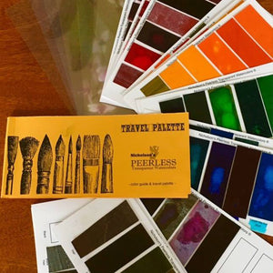 Peerless Watercolor Travel Palette and Color Guide - Set of 79 colors