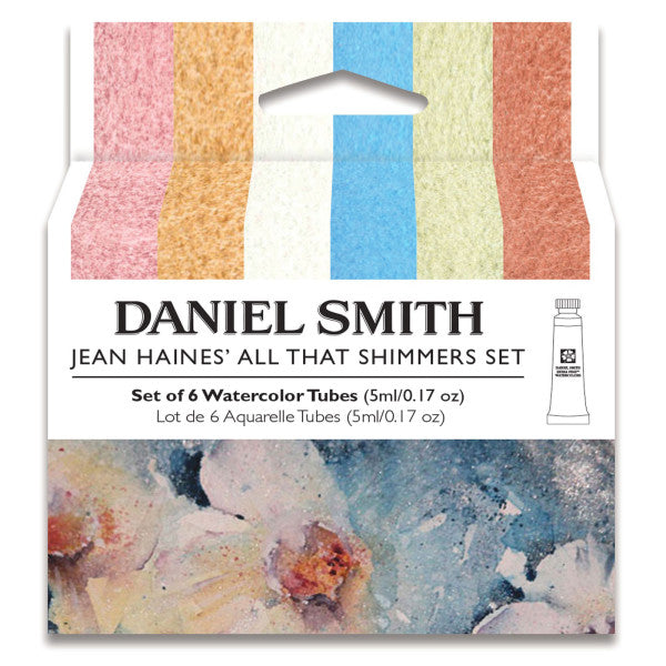 Daniel Smith Watercolor Jean Haines' 6-Color All That Shimmers 5ml Set - Odd Nodd Art Supply