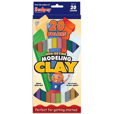 EZ Shape Modeling Clay 20-Color Sampler Odd Nodd Art Supply