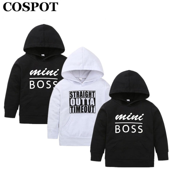 63bb3aa1 COSPOT Rush Sales Baby Boys Girls Hoodies Boy Sweatshirt Kids Hooded  Outfits Black White Coat Tops Baby Boy Clothes 2019 New 29