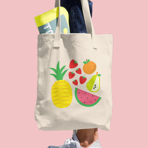 Fruit Salad Cotton Tote Bag