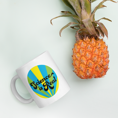 Science is Real Mug (blue, green, & yellow)