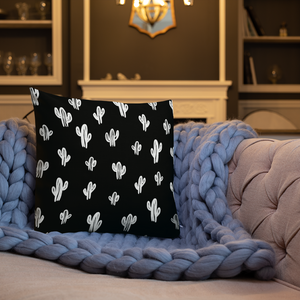 Cactus Throw Pillow- Black (2 sizes available)