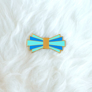 Art Deco Bow Tie Pin (blue)