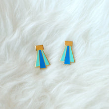 Art Deco Earrings (blue)