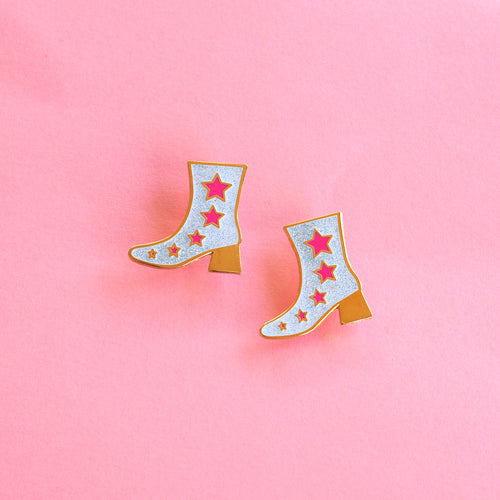 Disco Boot Enamel Pin