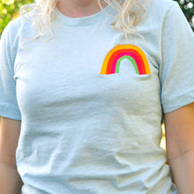 Embroidered Rainbow Unisex T-Shirt