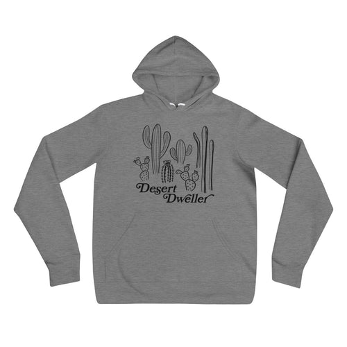 Desert Dweller Unisex hoodie (white or heather grey)