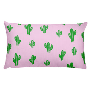 Cactus Throw Pillow- pink (2 size options)