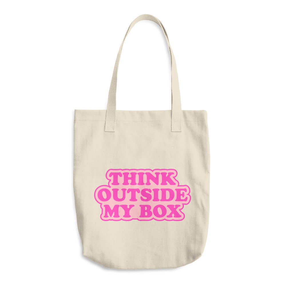 Think Outside My Box Cotton Tote Bag