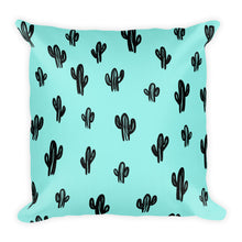Cactus Throw Pillow- Aqua (2 sizes available)