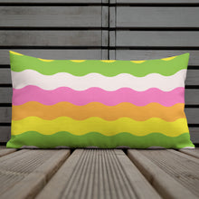 Wavy Stripes Throw Pillow- rainbow (2 sizes available)