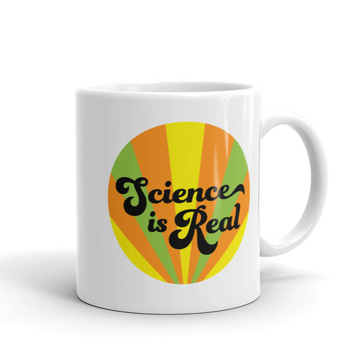Science is Real Mug (orange, green, & yellow)