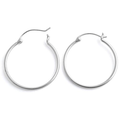 Sterling Silver Hoops - 40mm