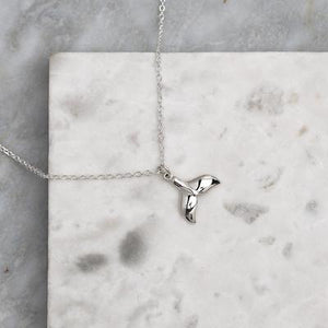 Sterling Silver Avalon Whale Tail Necklace