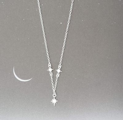 Sterling Silver Celestial Star Necklace