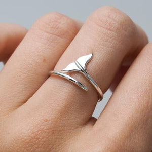 Sterling Silver Dolphin Tail Ring