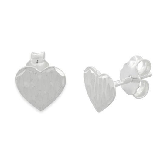 Sterling Silver Whole Hearted Studs