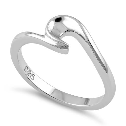 Sterling Silver Bronte Wave Ring