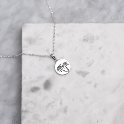 Sterling Silver Miami Medallion Necklace