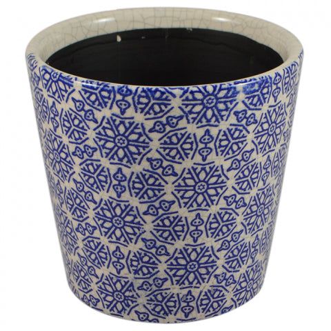 Moroccan Blue Ceramic Pot