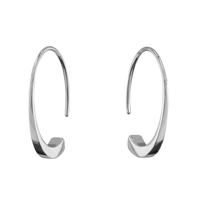 Sterling Silver Oscillate Hoops