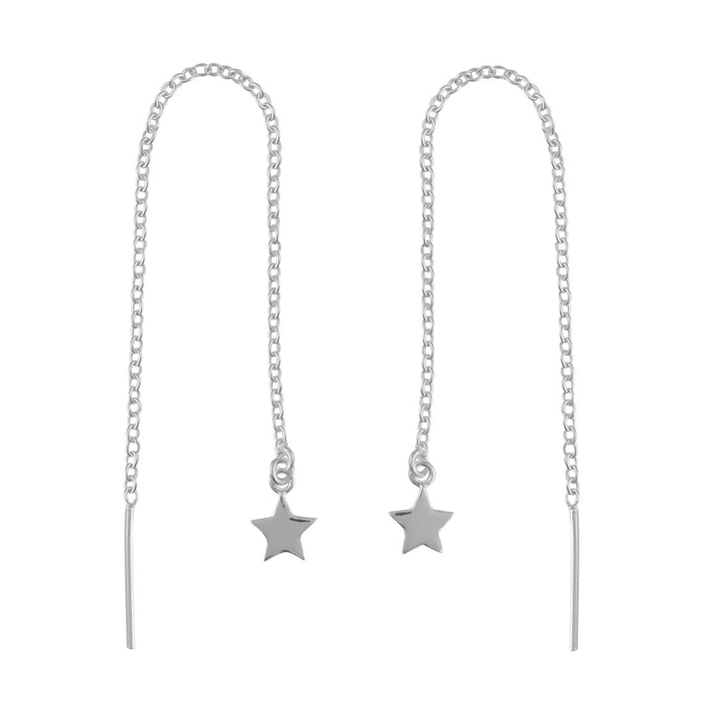 Sterling Silver Stars Threaders