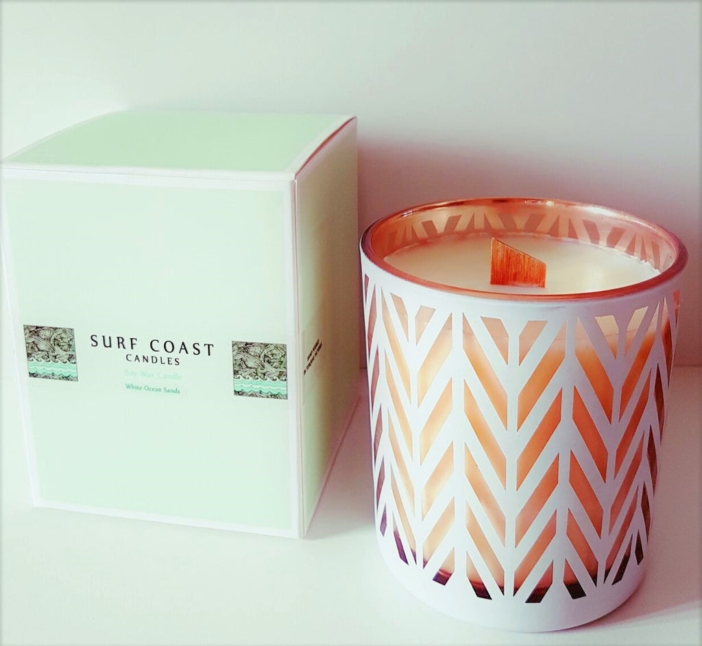 White Wash Surf Coast Candles - Large