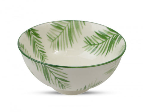 Tropical Green and Fern Leaf Rectangle Bowl 12.5cm