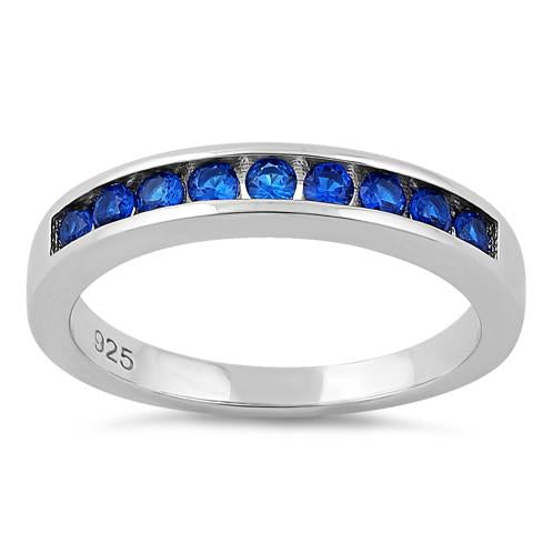 Sterling Silver Blue Band Ring