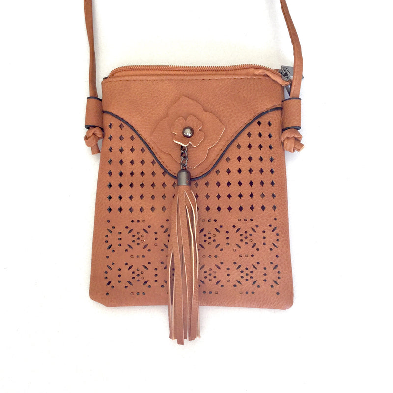 FRANCIS - Brown PU leather shoulder bag
