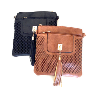 INDY - Black PU leather shoulder bag